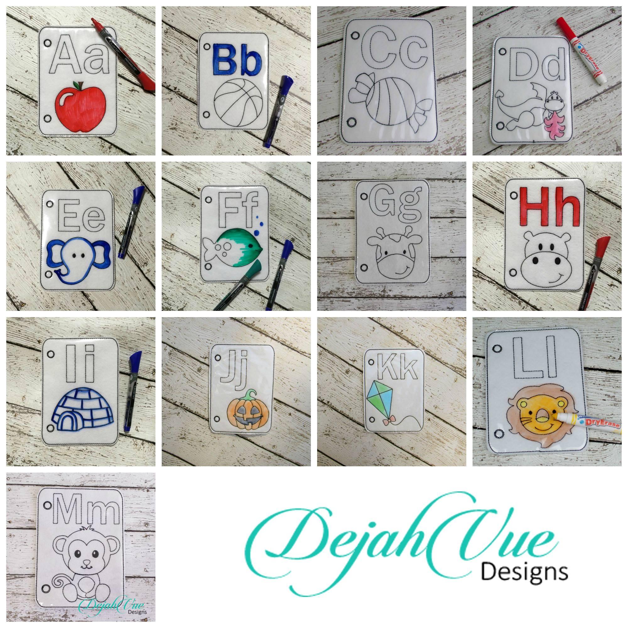 A z complete alphabet coloring book set - Alphabet complet ...